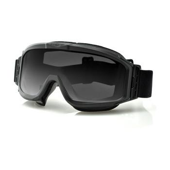 Очки Bobster Alpha Interchangeable Ballistic, Black Frame, Smoke & Clear Lenses