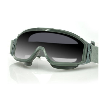 Очки Bobster Alpha Interchangeable Ballistic, Green Frame, Smoked & Clear Lenses