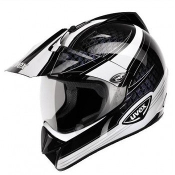 Мотошлем UVEX Enduro Black Black-White XS