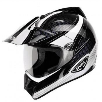 Мотошлем UVEX Enduro Black Black-White XS