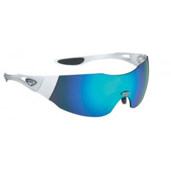 Спортивные очки Uvex Track 2 White-Blue mirror