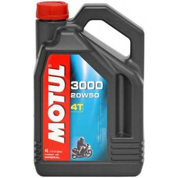 Моторное масло Motul 3000 4T 20W-50 (4L)