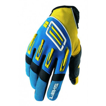 Мотоперчатки SHIFT Pro Strike Yellow-Blue M (9)