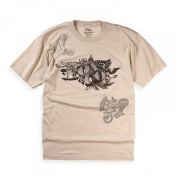 Футболка FOX Counterfeit Heathered s/s Tee Khaki M
