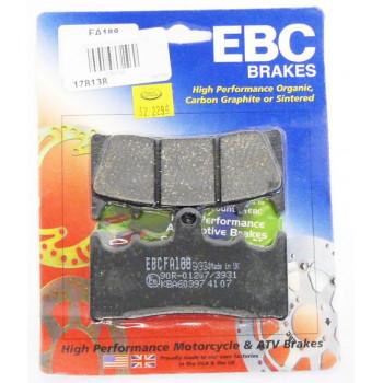 Колодки тормозные дисковые EBC FA188