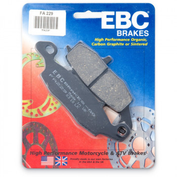Колодки тормозные дисковые EBC FA229