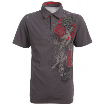 Рубашка FOX Inked s/s Polo Charcoal XL