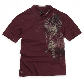 Рубашка FOX Inked s/s Polo Pomegranate S