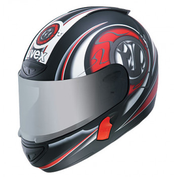 Мотошлем UVEX BOSS 525 Black-Red-White XS