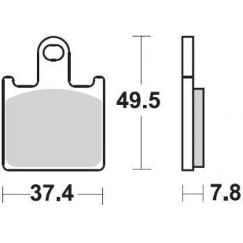 Колодки тормозные Braking BR 927CM55