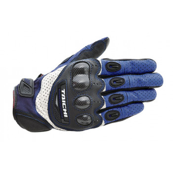 Мотоперчатки RS-Taichi Velocity Carbon Black-Blue-White M