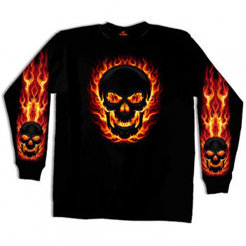 Реглан Blackout Skull Long Sleeve 2XL