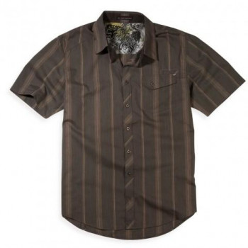 Рубашка Fox Monument s/s Woven Dark Brown M