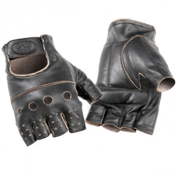 Перчатки River Road Buster Vintage Shorty Leather Gloves Brown S