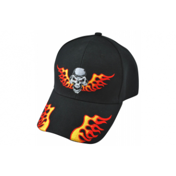 Кепка Zan Нeadgear CAP EMBROIDERED HELMET SKULL Black