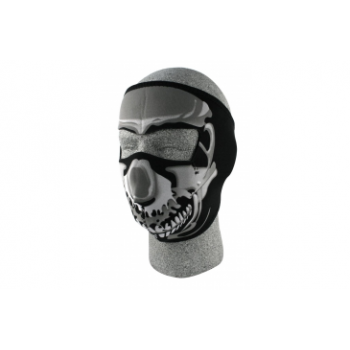 Лицевая мото маска Zan Headgear Chrome Skull