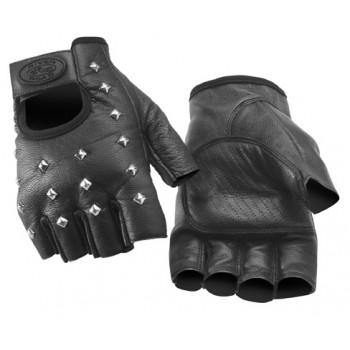 Перчатки River Road Vegas Shorty Leather Gloves Black 2XL