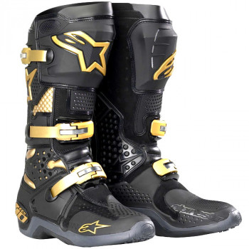 Мотоботы Alpinestars TECH 10 Black-Gold 12