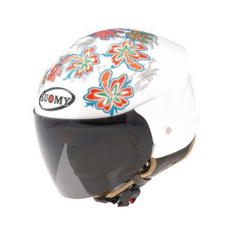 фото 1 Мотошлемы Mотошлем SUOMY HELMET LIGHT COCCO FLOWER White M