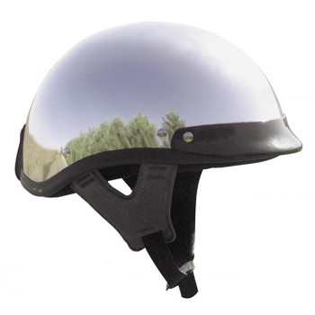 Мотошлем-каска Skid lid Traditional Chrome-Black XL