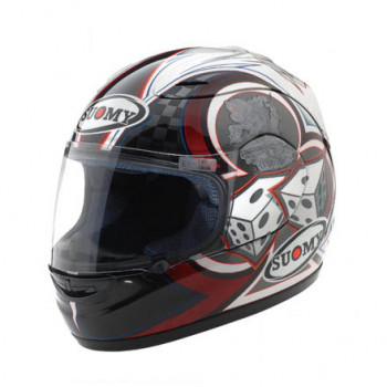 фото 1 Мотошлемы Мотошлем SUOMY BELLAGIO Black-Red-White XL