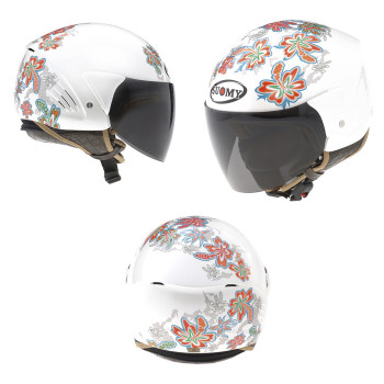 фото 2 Мотошлемы Mотошлем SUOMY HELMET LIGHT COCCO FLOWER White M