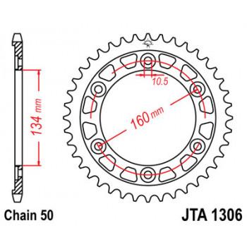 Звезда задняя легкосплавная JT Sprockets JTA1306.42