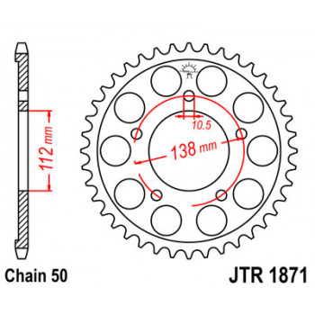 Звезда задняя легкосплавная JT Sprockets JTA251.51