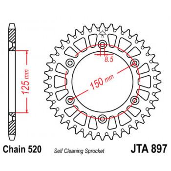 Звезда задняя легкосплавная JT Sprockets JTA897.38