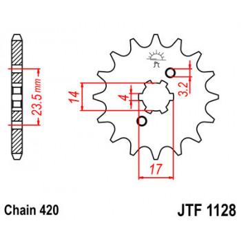 Звезда передняя JT Sprockets JTF1128.12