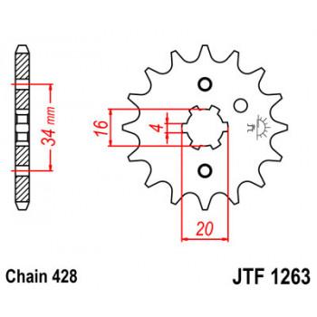 Звезда передняя JT Sprockets JTF1263.14