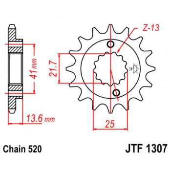 Звезда передняя JT Sprockets JTF1307.14