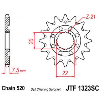 Звезда передняя JT Sprockets JTF1323.13SC