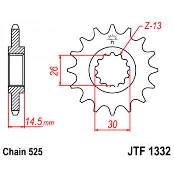 Звезда передняя JT Sprockets JTF1332.15