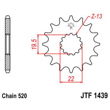 Звезда передняя JT Sprockets JTF1439.13