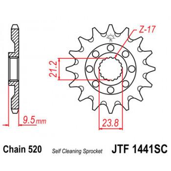 Звезда передняя JT Sprockets JTF1441.13SC
