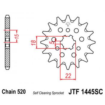 Звезда передняя JT Sprockets JTF1445.13SC