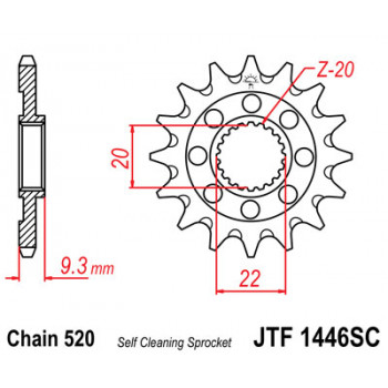 Звезда передняя JT Sprockets JTF1446.13SC