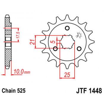 Звезда передняя JT Sprockets JTF1448.15