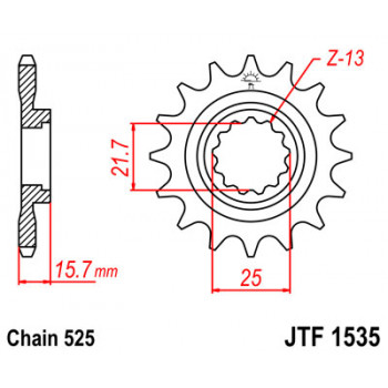Звезда передняя JT Sprockets JTF1535.15
