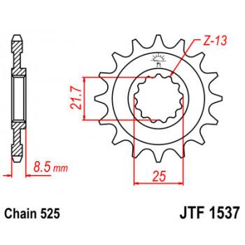 Звезда передняя JT Sprockets JTF1537.17