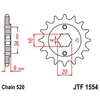 Звезда передняя JT Sprockets JTF1554.13