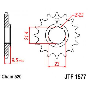 Звезда передняя JT Sprockets JTF1577.15