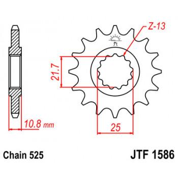 Звезда передняя JT Sprockets JTF1586.16