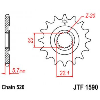 Звезда передняя JT Sprockets JTF1590.12