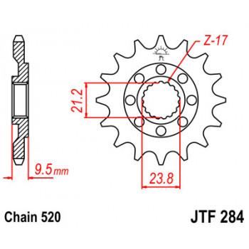 Звезда передняя JT Sprockets JTF284.12