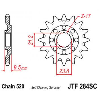 Звезда передняя JT Sprockets JTF284.13SC