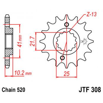 Звезда передняя JT Sprockets JTF308.15