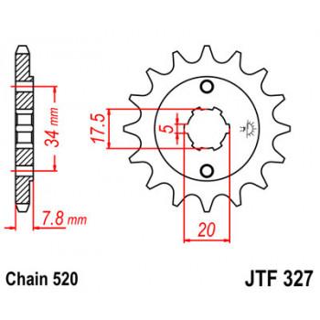 Звезда передняя JT Sprockets JTF327.13