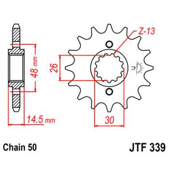 Звезда передняя JT Sprockets JTF339.17